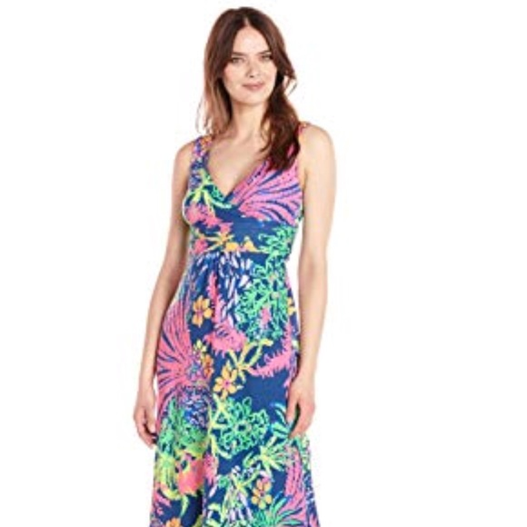 Lilly Pulitzer Dresses Sloane Maxi Dress In All A Glow Poshmark